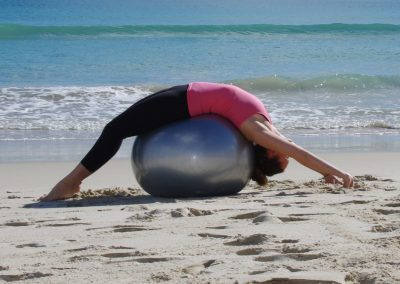 Laura Pilates Fitness Ball Leighton Beach
